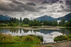 jezioro piękny krajobraz alaska Zdjęcia Royalty Free