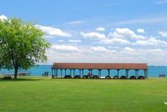 Jezioro pinkinu boczny schronienie Zdjęcia Stock