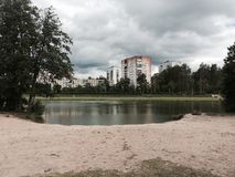 Jezioro plaża Obraz Stock