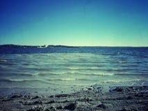 Jezioro plaża Obrazy Stock