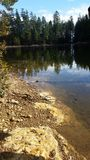 Jezioro plaża Zdjęcie Stock