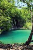 Jezioro Plitvice magiczna przejażdżka, Chorwacja Obrazy Royalty Free