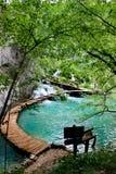 Jezioro Plitvice magiczna przejażdżka, Chorwacja Zdjęcie Royalty Free
