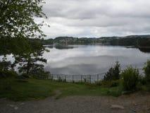 Jezioro przed Grieg muzeum Zdjęcia Stock