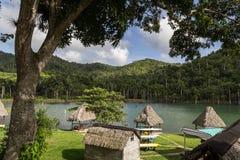 Jezioro przy Lasem Terrazas, Kuba Zdjęcia Royalty Free