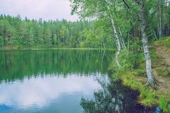 Jezioro przy latgale, Latvia Świeże powietrze i czysta natura Podróż fot Obraz Stock