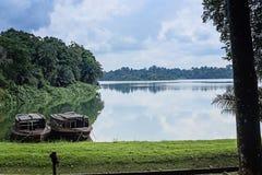 Jezioro przy Singapur zoo, Singapur Obrazy Royalty Free