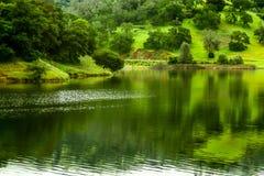 Jezioro robić tamą w górach zdjęcie royalty free