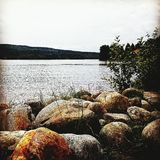 Jezioro, rzeka Obraz Stock