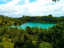Jezioro Salvador miasto fotografia stock