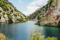 Jezioro San Domenico, Abruzzo, Włochy Zdjęcie Royalty Free