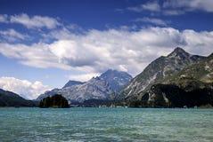Jezioro St Moritz Zdjęcia Royalty Free