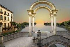 jezioro surrealistyczny Fotografia Royalty Free