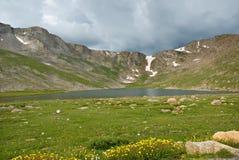 jezioro szczyt Obrazy Royalty Free