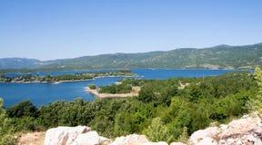 Jezioro, sztuczny jezioro Obrazy Stock