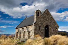 JEZIORO TEKAPO, MACKENZIE COUNTRY/NEW ZEALAND, LUTY - 23: Churc Obrazy Royalty Free