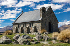 JEZIORO TEKAPO, MACKENZIE COUNTRY/NEW ZEALAND, LUTY - 23: Churc Obraz Stock