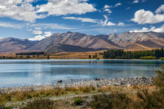 JEZIORO TEKAPO, MACKENZIE COUNTRY/NEW ZEALAND, LUTY - 23: Widok Fotografia Royalty Free