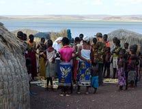 Magdalenki kościół chrześcijański zakupu rękodzieeł afrykanina plemię Obraz Stock