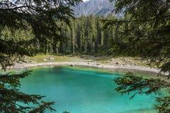 Jezioro w Alps Fotografia Stock