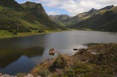 Jezioro w Andes, Ekwador Fotografia Stock