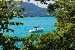 Jezioro w Austria, Attersee Obraz Stock