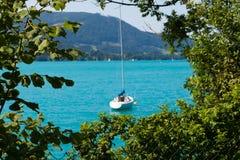 Jezioro w Austria, Attersee Zdjęcie Royalty Free