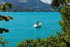 Jezioro w Austria, Attersee Fotografia Stock