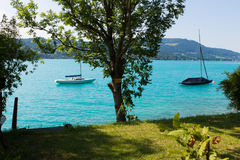 Jezioro w Austria, Attersee Obraz Royalty Free