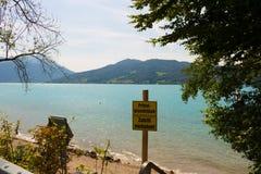 Jezioro w Austria, Attersee Obrazy Royalty Free
