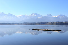 Jezioro w bavarian allgäu Obraz Stock