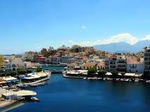 Jezioro w centrum Agios Nikolaos Obraz Royalty Free