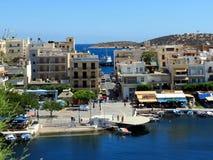 Jezioro w centrum Agios Nikolaos Fotografia Stock