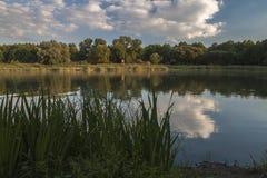 Jezioro w Chudów Fotografia Royalty Free