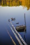 Jezioro w drewnie Zdjęcie Stock