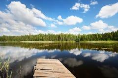 Jezioro w Estonia w pięknym letnim dniu Zdjęcie Royalty Free