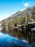 Jezioro w fjord Zdjęcie Stock