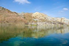 Jezioro w górach Fotografia Stock