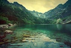Jezioro w górach Obraz Stock