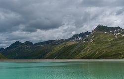 Jezioro w górach Austria obraz stock