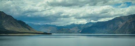 Jezioro w górach Nowa Zelandia fotografia royalty free