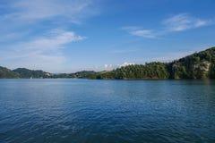 Jezioro w górach Pieniny obrazy stock