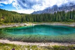 Jezioro w górze Obrazy Royalty Free