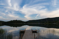 Jezioro w Gelendzhik Krasnodar region Rosja 21 05 2016 Zdjęcia Stock