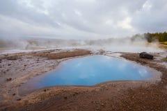 Jezioro w Geysir geotermicznym terenie, Iceland Obrazy Stock