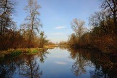 Jezioro w jesieni Obrazy Royalty Free
