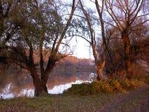 Jezioro w jesieni Fotografia Royalty Free