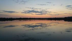 Jezioro w Kazachstan na wieczór Zdjęcie Stock