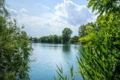 Jezioro w lecie Obraz Royalty Free