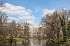 Jezioro w miasto parku Bremen Obraz Royalty Free